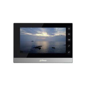 Современный IP-видеодомофон DAHUA dh-vth1550ch с сенсорным цветным экраном диагональю 7дюймов идвухпроводной технологией передачи данных.